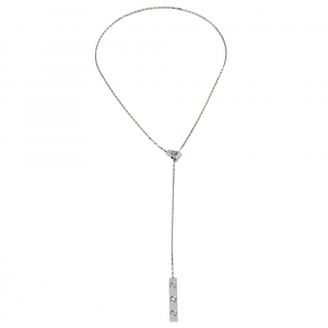 Cartier Love 1 Diamond 18K White Gold Lariat Necklace