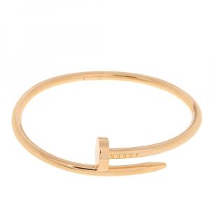 Cartier Juste Un Clou 18K Rose Gold Bracelet 17