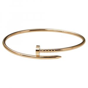 Cartier Juste Un Clou 18K Rose Gold Bracelet SM 17