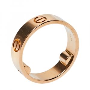 """خاتم زفاف كارتييه """"لوف"""" حلقة ذهب وردي عيار 18 مقاس 58"""