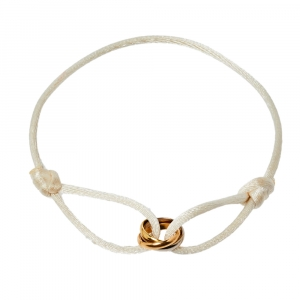 Cartier Trinity de Cartier 18K Three Tone Gold Adjustable Cord Bracelet