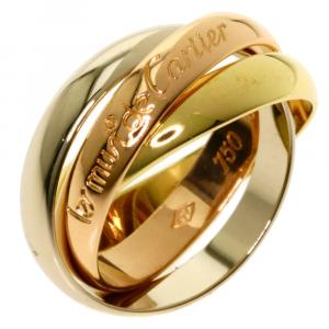 Cartier 18K Yellow, Rose, White Gold Les Must De Cartier Trinity Ring Size 48