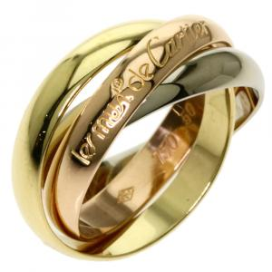 Cartier 18K Yellow, Rose, White Gold Les Must De Cartier Trinity Ring Size 50.5