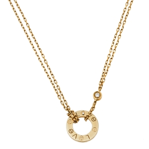 Cartier Love 2 Diamonds 18K Yellow Gold Necklace