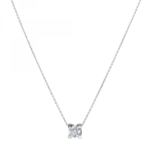 Cartier C de Cartier Solitaire 0.53 ct Diamond 18K White Gold Pendant Necklace