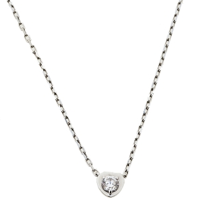 Cartier Diamants Legers 18K White Gold Heart Motif Necklace