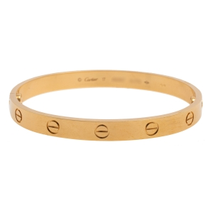 Cartier Love 18K Yellow Gold Bracelet 17