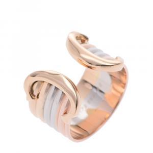 Cartier Trinity De Cartier 18K Yellow, Rose, White Gold Ring Size EU 48