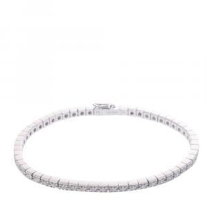 Cartier Lanieres 18K White Gold Diamond Bracelet