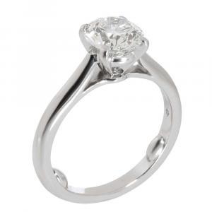 Cartier 1895 Diamond Solitaire Platinum Ring Size EU 50