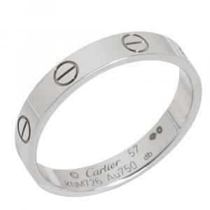 Cartier Love 18K White Gold Ring Size EU 57