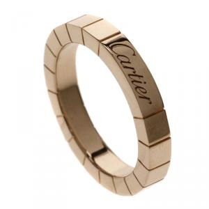 Cartier Lanières Rose Gold Band Ring Size 48
