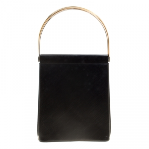 Cartier Black Leather Small Trinity Bag