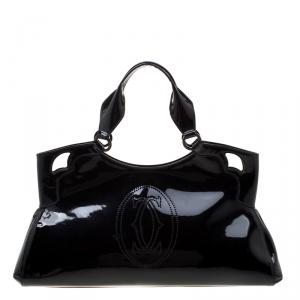 Cartier Black Patent Leather Medium Marcello de Cartier Bag
