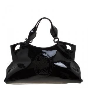 Cartier Black Patent Leather Marcello De Cartier Tote