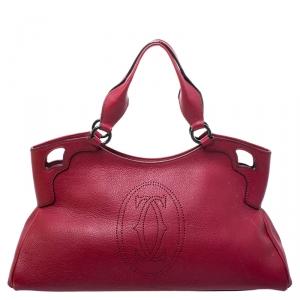 Cartier Burgundy Leather Medium Marcello de Cartier Bag