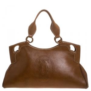 Cartier Tan Leather Medium Marcello de Cartier Bag