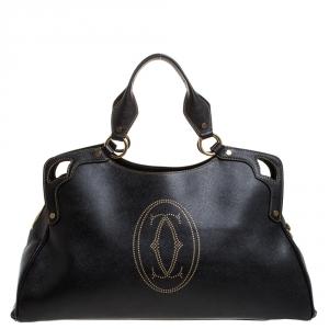 Cartier Black Leather Large Marcello de Cartier Bag