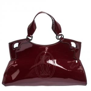 Cartier Red Patent Leather Medium Marcello de Cartier Bag