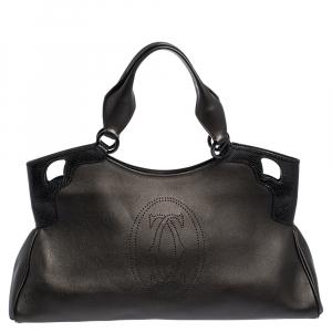 Cartier Black Leather Medium Marcello de Cartier Bag