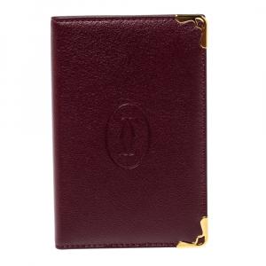 Cartier Red Leather Must De Cartier Card Holder