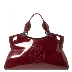 Cartier Red Patent Leather Large Marcello de Cartier Bag