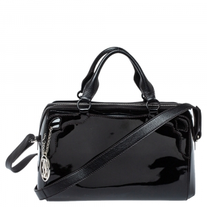 Cartier Black Patent Leather Marcello de Cartier Bowler Bag