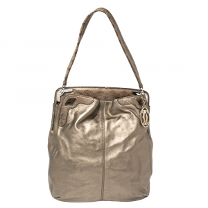 Cartier Metallic Leather and Python Marcello de Cartier Top Handle Bag
