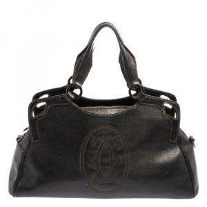Cartier Black Leather Marcello De Cartier Bag