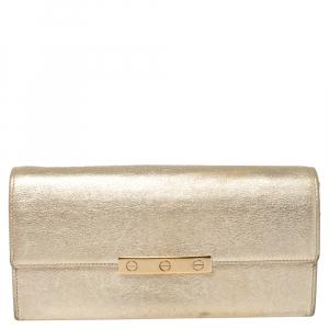 محفظة كارتييه كونتينتال لوف جلد ذهبي ميتالك