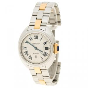 Cartier Stainless Steel Cle De Cartier 3867 Women's Wristwatch 32 mm