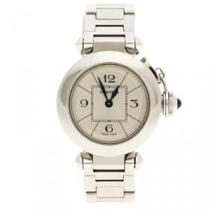 Cartier Cream Stainless Steel Miss Pasha Women's Wristwatch 27 mm