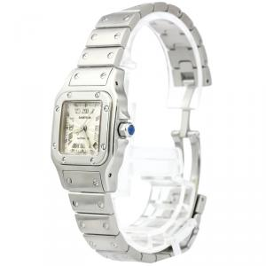 Cartier Silver Stainless Steel Santos Galbee Women's Wristwatch 24MM