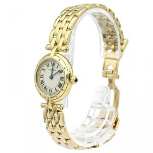 Cartier Silver 18K Yellow Gold Panthere Vendome Women's Wristwatch 24MM