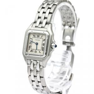 Cartier Silver Stainless Steel Panthere de Cartier Women's Wristwatch 24MM