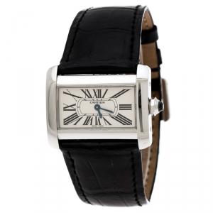 Cartier Cream Stainless Steel Tank Divan 2599 Women's Wristwatch 31 mm