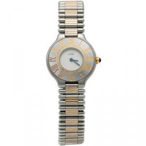 Cartier White Must De Cartier 21 Women's Watch 28MM