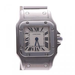 Cartier Ivory Stainless Steel Santos Galbee W20056D6 Women's Wristwatch 23×23MM