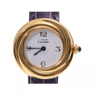 Cartier White Gold Plated Metal Must Trinity W1010844 Women's Wristwatch 26 MM