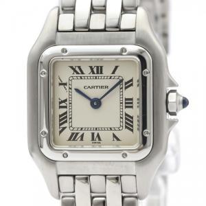 Cartier White Stainless Steel Panthere De Cartier W25033P5 Women's Wristwatch 22 MM