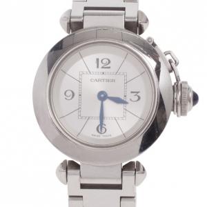 Cartier Miss Pasha SS Quartz Womens Wristwatch 27 MM