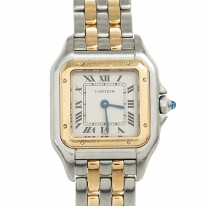 Cartier Panthere 18K Yellow Gold SS Womens Wristwatch 22 MM