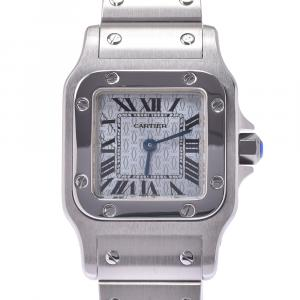 Cartier Santos Blue Stainless Steel Santos Galbee Quartz Women's Wristwatch 23 x 20 MM
