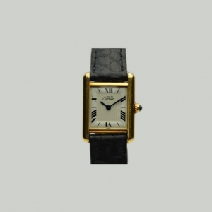 Cartier Vintage SS Tank Wristwatch