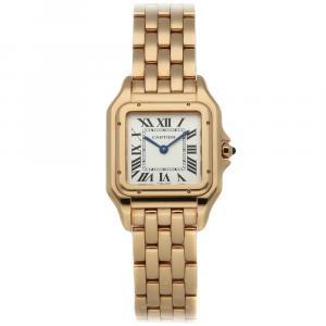 Cartier Silver 18K Rose Gold Panthere de Cartier Medium WGPN0007 Women's Wristwatch 27 x 37 MM