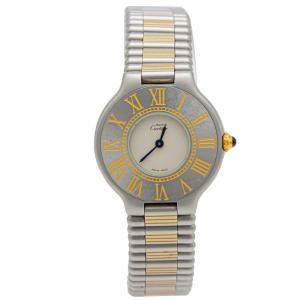 Cartier Must 21 Steel & Yellow Gold Watch 29MM