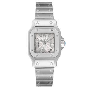 Cartier Silver Stainless Steel Santos Galbee Automatic W20044D6 Women's Wristwatch 24 x 24 MM