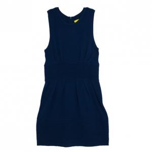 Catherine Malandrino Pointelle Ribbed Knit Dress L