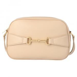 Celine Beige Lambskin Leather Crecy Camera Bag