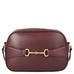 Celine Burgundy Lambskin Leather Crecy Camera Bag